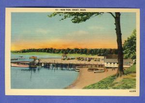 Onset, Mass/MA Postcard, New Pier/Boats,Cape Cod, Near Mint!