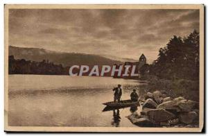 Limousin Old Postcard Crepuscule on the Dordogne in Beaulieu