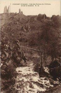 CPA CROZANT Vue des Ruines du Chateau et de la Sedelle (1143817)