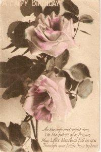 Beautiful Roses Tuck Beerthday Greetings Ser. PC # R 386