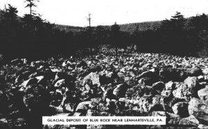 Pennsylvania Glacial Deposit Of Blue Rock Near Lenhartsville