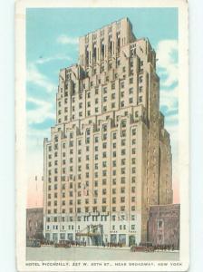 Linen PICCADILLY HOTEL New York City NY W5346