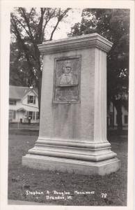 RP; BRANDON, Vemont; Stephen A. Douglas Monument, 1950s