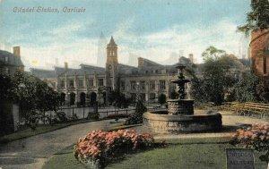 Carlisle Citadel Station Fountain Promenade Postcard