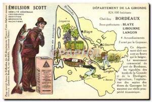 Postcard Old Scott Emulsion Bordeaux Blaye Department Gironde Libourne Langon
