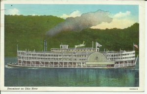 Steamer On The Ohio River