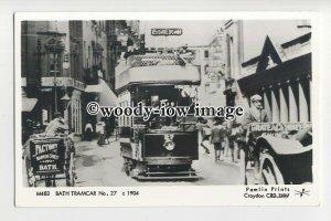 pp2304 - Bath Tramcar No.27, c1904 - Pamlin postcard
