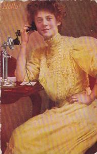 Humour Woman On Telephone Hello 1909