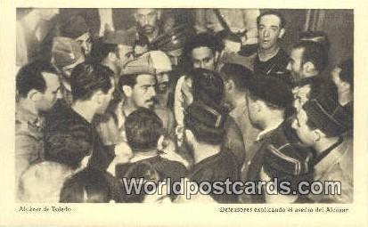 asedio del Alcazar, Alcazar de Toledo Spain Tarjeta Postal Unused
