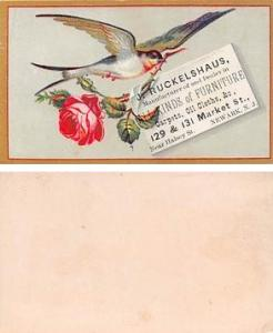 Approx Size Inches = 2.50 x 4 J Ruckelshaus, Newark, NJ USA Trade Card