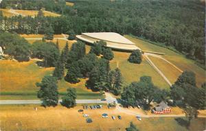 Massachusetts, Lenox, Berkshire Music Festival, Air view, auto cars