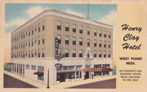WEST POINT, Mississippi, 1930-1940's; Henry Clay Hotel
