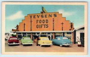 MACKINAW CITY, Maryland MD ~ Roadside TEYSEN'S FOOD Gifts 1950s Linen  Postcard