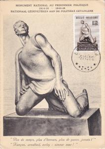 Stamp & Postcard , PU-1951 - Belgium , Monument National au Prisonnier Politique