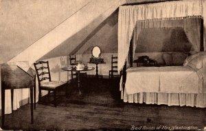 Virginia Mount Vernon Washington's Mansion The Bedroom Of Mrs Washington
