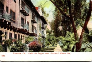 California Riverside Glenwood Mission Under The Pepper Trees 1914