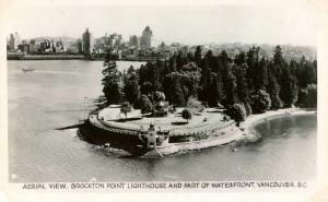 Canada - British Columbia, Vancouver. Brockton Point Lighthouse, Waterfront  ...