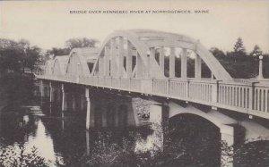 Maine Norridgewock Bridge Over Kennebec River Artvue