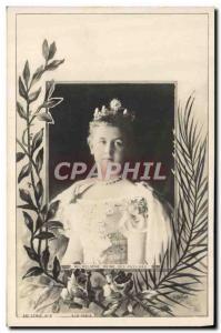 Old Postcard Queen Wilhelmina of Holland