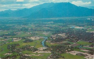 Postcard place to identify aerial view mountain scenery