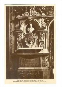 RP; Malta - Valletta , 20-40s : St John´s Cathedral ; Monument of G.M. John ...