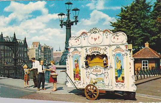 Scene, Barrel- Organ, Amsterdam (North Holland), Netherlands, 1940-1960s