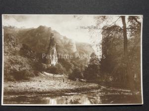 Derbyshire: Dovedale Pickering Tor near Ashbourne c1928 RP by Kingsway S13284
