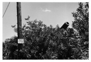 Postcard Bus Stop at Fort Dix New Jersey USA 1951 by Elliott Erwitt KW6