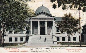 BRANTFORD, Ontario, Canada, PU-1907; Public Library