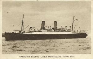 Canadian Pacific Line Steamer Montclare (1920s)