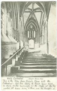UK, Wells Cathedral, Chapter House Steps, 1904 used Postcard