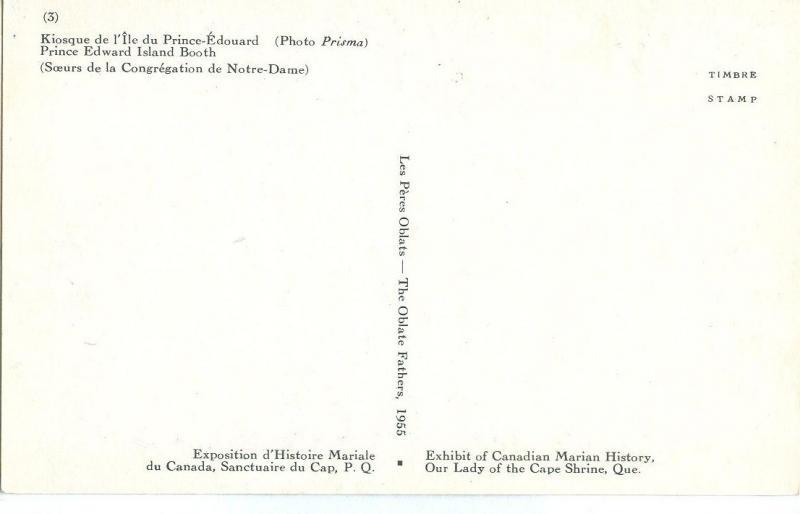 Canada, Prince Edward Island Booth, Souers de la Congregation de Notre-Dame