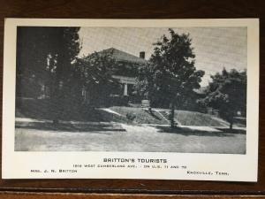 Britton's Tourists, 1816 W. Cumberland Av., Knoxville, Tennessee TN D21
