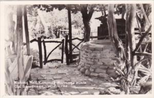Wishing Well Ramona's Marriage Place Old San Diego California Real Photo