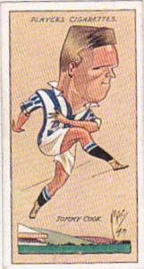 Player Vintage Cigarette Card Football Caricatures By Mac 1927 No 9 Tommy Cook