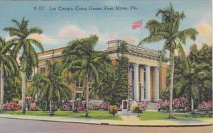 Florida Fort Myers Lee County Court Housse Curteich
