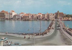 Bird's Eye View, Pontoon Bridge, Curacao, Netherland Antilles, 40-60s