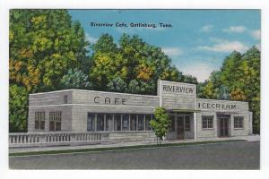 Gatlinburg, Tennessee, View of The Riverview Cafe, 1949