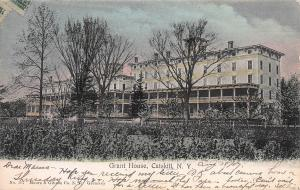 Grant House,  Catskill, New York, Early Hand Colored Postcard, Used in 1907