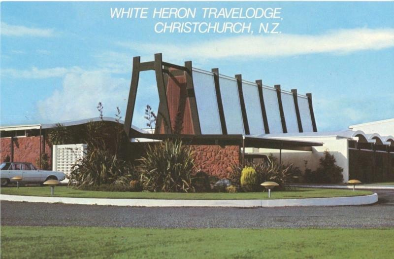 White Heron Travelodge Christchurch NZ New Zealand Unused Vintage Postcard D22