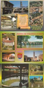 Valence D'Agen Flower Market Stall 3x French Postcard s