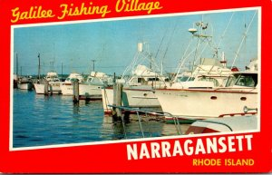Rhode Island Narragansett Galilee Fishing Village Fishing Boats