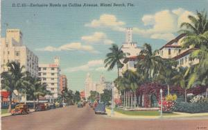 MIAMI BEACH, Florida, 30-40s; Exclusive Hotels on Collins Avenue