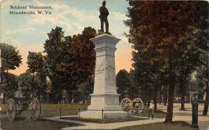 F23 Moundsville West Virginia Postcard 1915 Soldiers Monument 18
