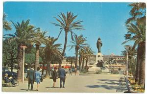 Malta, The Mall, Floriana, used Postcard