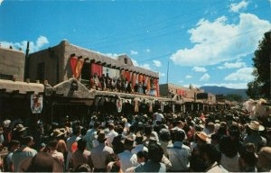 Postcard Crowning of the Queen Taos New Mexico