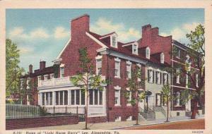 Virginia Alexandria Home Of Light Horse Harry Lee