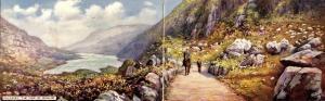 UK - Ireland, Killarney. The Gap of Dunloe  (Tuck, Panoramic Fold-Out, 11.5 ...