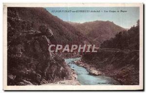 Old Postcard St Fortunat sur Eyrieux (Ardeche) Gorges Boyon