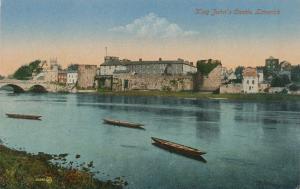 Boats on River Shannon at King John's Castle - Limerick, Ireland - DB